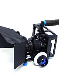 yelangu® maniglia superiore gabbia fotocamera DSLR con matte box e seguire la messa a fuoco DSLR videocamera