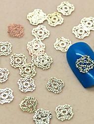 Недорогие -200шт полую конструкцию кружева золотой металл ломтик украшение искусства ногтя