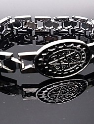 Jewelry Inspired by Black Butler Ciel Phantomhive Anime Cosplay Accessories Bracelet Silver Alloy Male