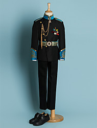 preiswerte -Schwarz Polyester Ring-Träger Anzug - 4 Enthält Jacket Schärpe Hemd Hosen