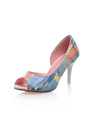 cheap -Women's Shoes Stiletto Heel Peep Toe Pumps Shoes Dress