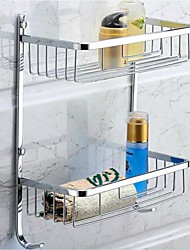 Bathroom Shelf / Chrome Stainless Steel /Contemporary