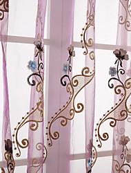 Недорогие -1 панель Окно Лечение Деревенский Однотонный Спальня материал Занавески Оттенки Украшение дома