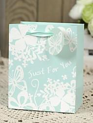 suporte de suporte de papel de cartão cuboide com fitas favor bolsas-6 favores de casamento