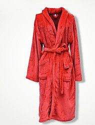Bath Robe Red,Solid High Quality 100% Coral Fleece Towel