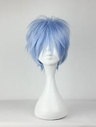 preiswerte -Cosplay Perücken Cosplay Kuroko Tetsuya Blau Kurz Anime Cosplay Perücken 30 CM Hitzebeständige Faser Mann