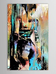 cheap -Hand-Painted People Vertical, Modern Oil Painting Home Decoration One Panel