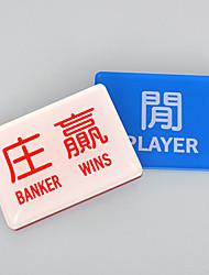 Недорогие -2 шт банкир игрок выигрывает китайский кристально набор маджонг чип