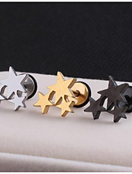 cheap -Men's Stud Earrings - Stainless Steel Star For Wedding / Party / Daily
