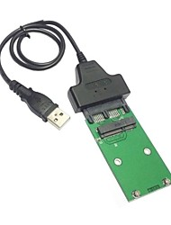 "USB 2.0 to Mini PCI-E mSATA SSD to 1.8"" Micro SATA 7+9 16pin Adapter Add on Cards PCBA for SSD Hard Disk"