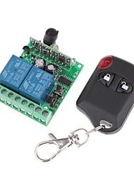 Module de relais de l'alimentation à distance 12V 2-canaux sans fil avec télécommande (DC28V-AC250V)