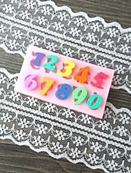 Number Letter Shaped Bake Fondant cake mold,L6.1cm*W3.2cm*H0.7cm