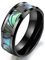 cheap -Men's Band Ring - Ceramic, Cowry Unique Design, Fashion 6 / 7 / 8 Black For Wedding / Party / Daily