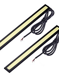cheap -Car White 7W COB 6000 Daytime Running Light Strip Light