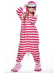Недорогие -Взрослые Пижамы кигуруми Кошка Цельные пижамы Флис Розовый Косплей Для Муж. и жен. Нижнее и ночное белье животных Мультфильм Фестиваль / праздник костюмы
