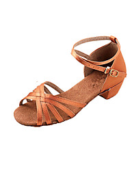 Women & Children's Satin Dance Shoes For Latin/Ballroom Sandals(More Colors)