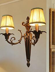 billige -væg lys, 2 lys, retro messing 220v