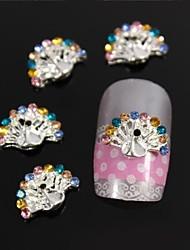 Недорогие -10шт красоты распространение павлиний хвост аксессуары DIY сплава горный хрусталь ногтей украшения
