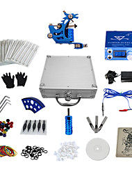 abordables -1 Gun Complete No Ink Tattoo Kit with Stamping Machine and Blue LCD Screen Power Supply