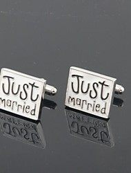 "cheap -Men's Party/Evening Groom/Groomsman ""Just Married"" Brass Cufflinks"