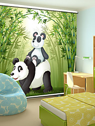 cheap -Lovely Cartoon Style Father Panda & Baby Panda With Bamboo Roller Shade