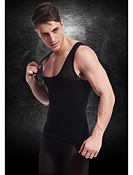 Men Slimming Underwear Body Shaper Vest Waist Coat Shirt Firm Tummy Belly Chest Nylon Black NY027