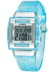 Женские Повседневные часы электронные часы Спортивные часы Кварцевый Цифровой PU Группа Черный Белый Синий Розовый Фиолетовый