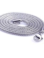 Недорогие -Ожерелья-цепочки - Титановая сталь Змея На заказ, Уникальный дизайн, Мода Серебряный Ожерелье Бижутерия Назначение Новогодние подарки, Подарок, Повседневные