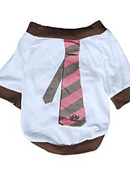 preiswerte -Hund T-shirt Hundekleidung Atmungsaktiv Lässig/Alltäglich Streifen Weiß Kostüm Für Haustiere