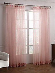 cheap -Two Panels Curtain Modern , Solid Bedroom Polyester Material Sheer Curtains Shades Home Decoration For Window