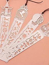 cheap -Multi-Function Metal Hollow-out Drawing Ruler Bookmark(Birdcage)