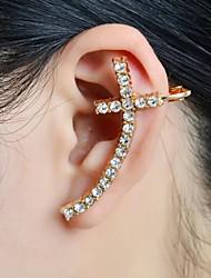 Poignets oreille Strass Imitation de diamant Alliage Forme de Croix Bijoux Mariage Soirée Quotidien Décontracté Sports