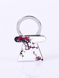 Недорогие -Юбка формы сливы цветочный узор металла серебряные брелок игрушки