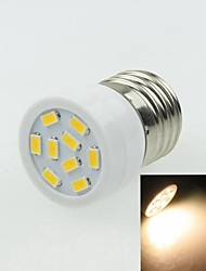 E27 3W 9LED 5730SMD 180-240LM 3000-3500K AC220-240V Spotlight Warm White - White Silver