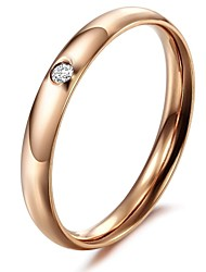 cheap -Ms Rose Gold Plated Surface Crystal Diamond Exquisite Titanium Steel Ring