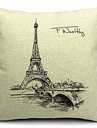 Baumwolle/Leinen Kissenbezug , Eiffelturm Modern/Zeitgenössisch
