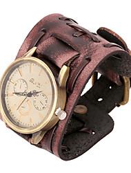 Недорогие -Мода часы 20см мужская коричневая кожа кожаный браслет (коричневый) (1 шт)