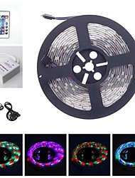 cheap -RGB 5M 30W 300LED 3528SMD DC12V strip light RGB Remote Control 24Key IR Controller AC100-240V