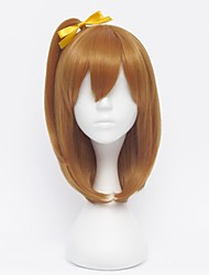 Cosplay Wigs Love Live Honoka Kōsaka Brown Short Anime Cosplay Wigs 35 CM Heat Resistant Fiber Female
