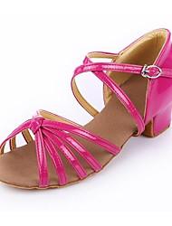 Women's/Kids' Dance Shoes Latin Leather Cuban Heel