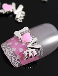 cheap -10pcs 3D Alloy Love Letter Character Nail Art Decoration
