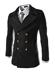 Недорогие -jogal 3d психического дважды груди пальто шерстяное