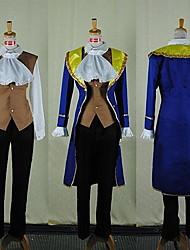 Fantasias de Cosplay Princesa Conto de Fadas Cosplay de Filmes Azul Casaco Colete Camisa Calças Dia Das Bruxas Natal Ano Novo Masculino