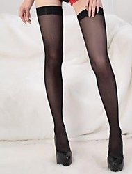cheap -Women's Medium Stockings,Polyester Nylon Patchwork 1set Black
