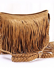cheap -Women's Bags Suede Crossbody Bag for Casual Gray / Brown / Camel