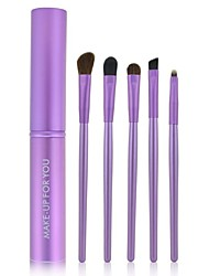 cheap -Make-up For You® 5pcs Makeup Brushes set Pony/Horse Hair  Limits bacteria Purple Makeup Kit Cosmetic Brushes Tool set