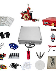 abordables -1 Gun Complete No Ink Tattoo Kit Tatoo Machine and Aluminum Alloy Power Supply