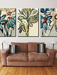 cheap -Personalized Canvas Print Stretched Canvas Art Abstract flower 28x40cm  40x60cm Gallery Wrapped Art Set of 3