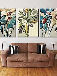 abordables -impression sur toile personnalisée toile tendue art abstrait galerie fleur 28x40cm 40x60cm enveloppé ensemble d'art de 3
