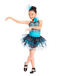billige -Dansetøj til børn / Ballet Kjoler Træning Spandex / Tyl / Pailletter Paillette Uden ærmer Naturlig / Opvisning